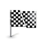 Racing flag isolated on white Stock Photos