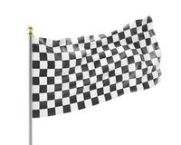 Racing flag isolated on a white background Stock Photography