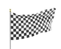 Racing flag isolated on a white background Stock Photos