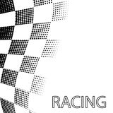 Racing Flag Like A Chessboard Pattern. Racing Flag Background. Halftone Design. Vector Illustration royalty free illustration