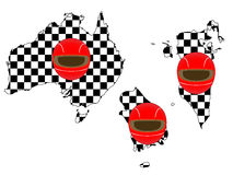 Racing Flag Maps 1 Stock Photo
