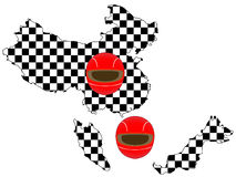 Racing Flag Maps 2 Royalty Free Stock Images