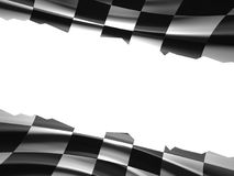 Racing Flag. With place for text Stock Photo