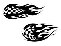 Racing flag tattoos Stock Photo