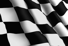 Racing Flag Wallpaper Royalty Free Stock Image