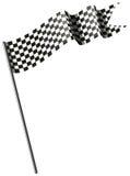 Racing flag on white background. Illustration Royalty Free Stock Photos