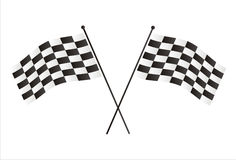 Racing flags Stock Image