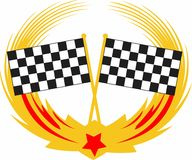 RACING FLAGS CREST Royalty Free Stock Photo