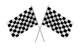 Racing flags. 3d illustration isolated on white background Stock Photo
