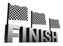 Racing Flags and Finish Royalty Free Stock Image