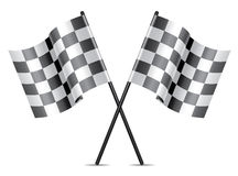 Vector racing flags icon Royalty Free Stock Image