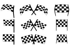 Racing flags Royalty Free Stock Image