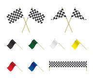 Racing flags set illustration Stock Images