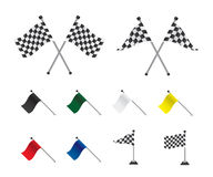 Racing flags set. On white background Vector Illustration