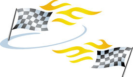 Racing flags  (Vector) Royalty Free Stock Photo