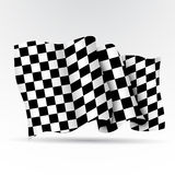 Racing flags. On a white background Stock Photography