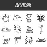 Racing flat concept icons. Vector illustration, EPS 10 Stock Photos