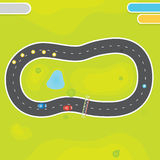 Racing game asset objects Royalty Free Stock Photos