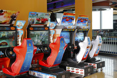 Racing game consoles Stock Image
