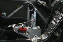 Racing gear stick in Hummer Stock Photos