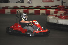Racing go carts Royalty Free Stock Images
