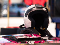 Racing helmet Stock Photography