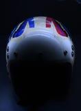 Racing helmet. Light painting technique. Long exposure Stock Images
