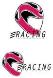 Racing helmet signs Royalty Free Stock Image
