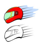 Racing helmet Stock Images
