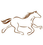 Racing Horse logo Royalty Free Stock Photos