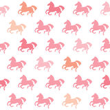 Racing horses seamless pattern. Vector background Stock Photography