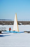 Racing Ice Boat Stock Photos