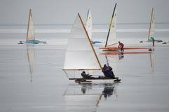 Racing Ice Boats Royalty Free Stock Photos