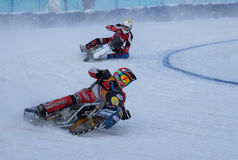 Racing on ice stock photography