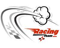 Racing icon. Vector illustration related with speed Stock Photography