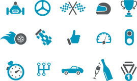 Racing Icon Set Royalty Free Stock Photos