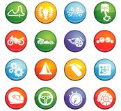 Racing icon set. Racing  icons for user interface design Royalty Free Stock Image