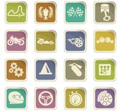 Racing icon set. Racing  icons for user interface design Royalty Free Stock Photo
