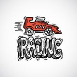 Racing Icon Sketch. Racing car auto sport decorative icon sketch vector illustration Stock Image