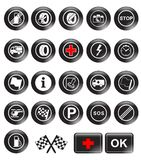 Racing icons. Vector illustration background Stock Photo