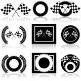 Racing icons Stock Photos