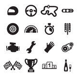 Racing Icons Royalty Free Stock Photography