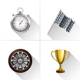 Racing Icons Set Stock Image