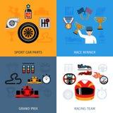 Racing Icons Set Royalty Free Stock Photo