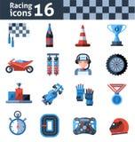Racing Icons Set Royalty Free Stock Image