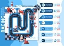 Racing Infographics Set Stock Images