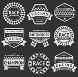 Racing insignia set. Vintage style 01 Royalty Free Stock Photo