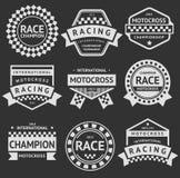 Racing insignia set Royalty Free Stock Photo