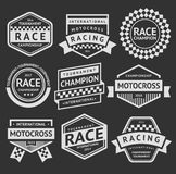 Racing insignia set Royalty Free Stock Photos