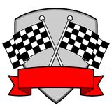 Racing Insignia. A vector illustration of a Racing Insignia Royalty Free Stock Photography